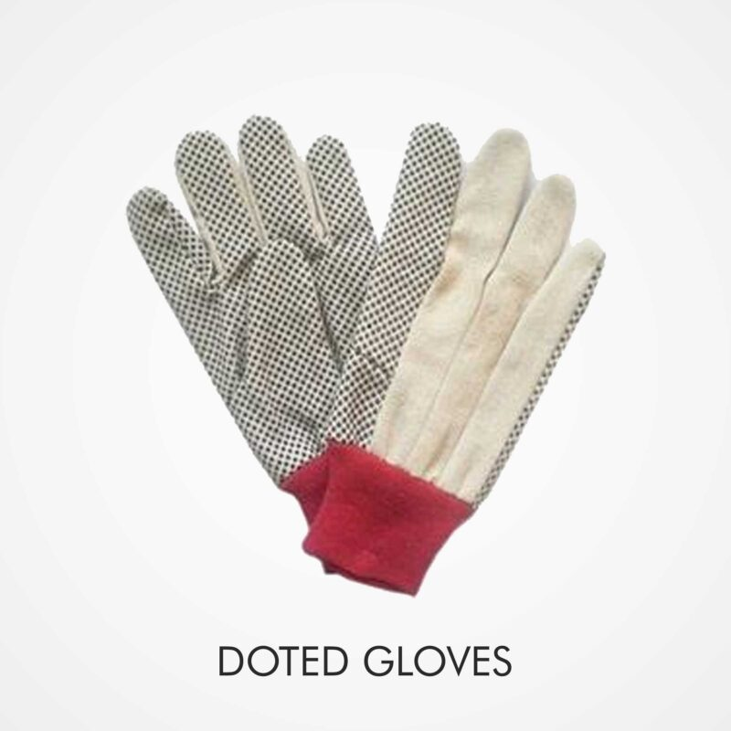 doted gloves